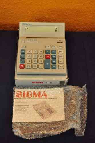 Desktop calculator Sigma TR121 solar + manual