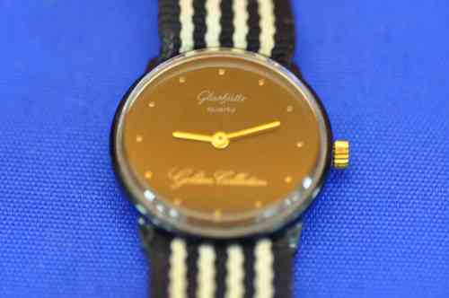 Glashütte Golden Collection Quartz Armbanduhr um 1970
