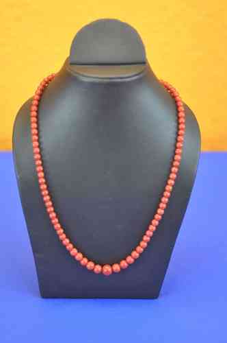 Sicilian red coral necklace 750 gold