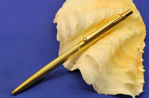 Montblanc Noblesse Ballpoint Pen Gold Plated with lines