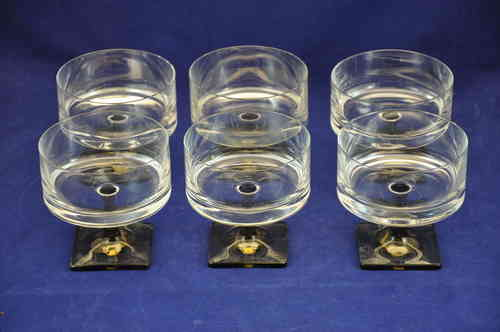 Rosenthal glass serie Berlin 6 Champagne cups Jensen