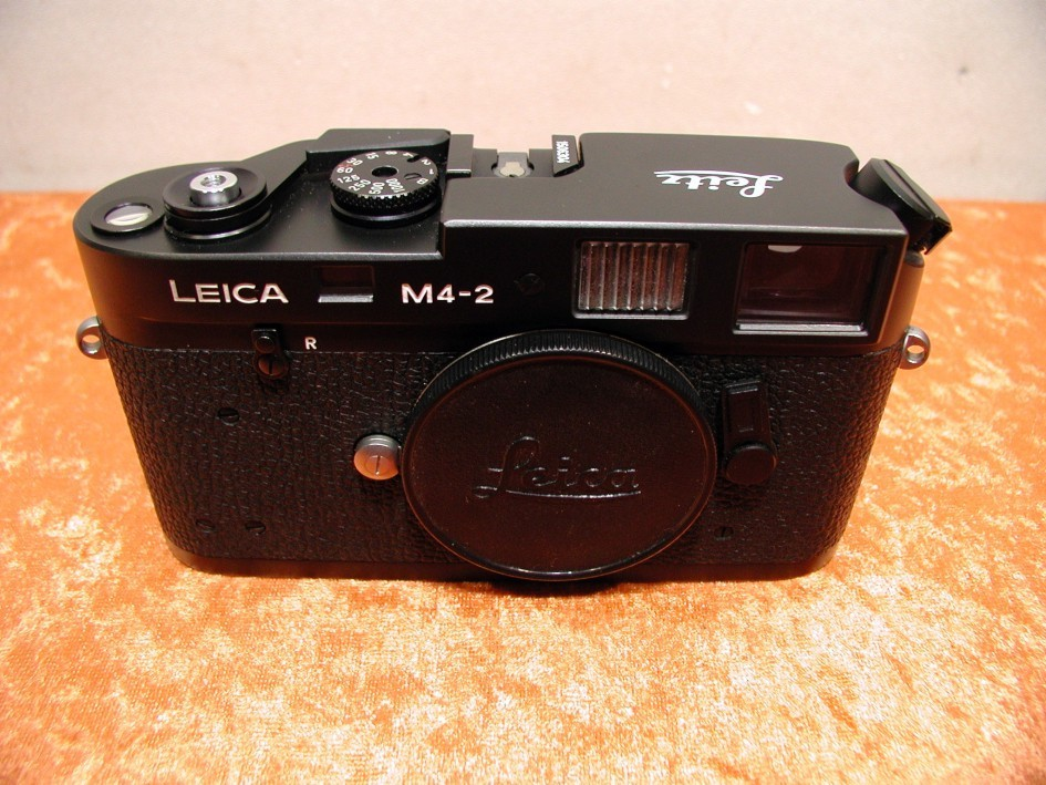 Leica M4-2 rangefinder camera in black