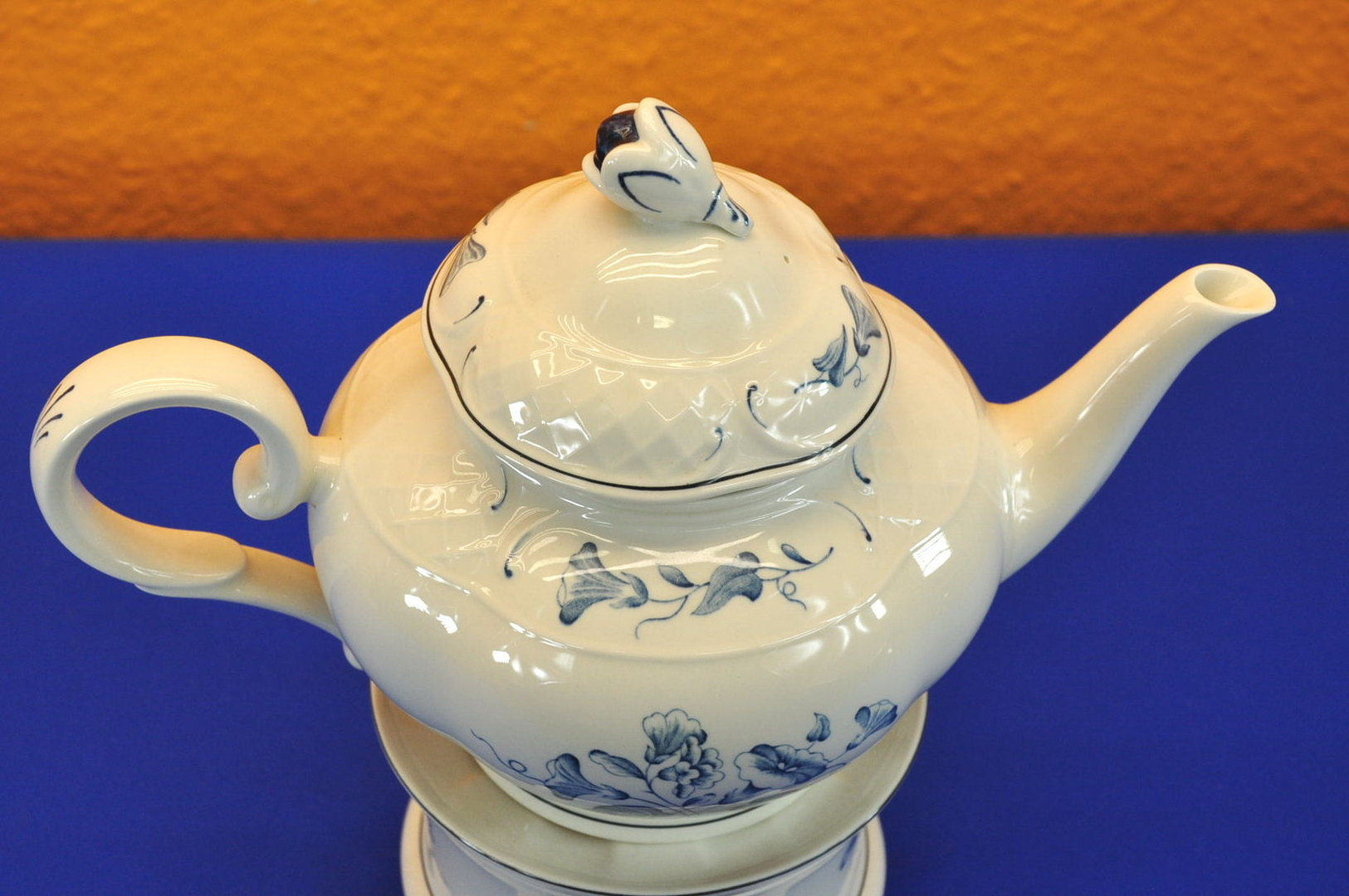 Teekanne Porzellan Mit Stövchen villeroy boch val bleu teekanne und stövchen kusera