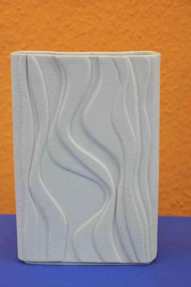 Op Art Vase In Weiss Matt Heinrich Porzellan Kaufen Bei Kusera