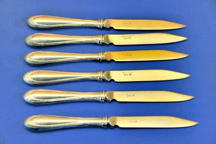 Lutz /& Weiss Chippendale Dessertmesser 800 Silber