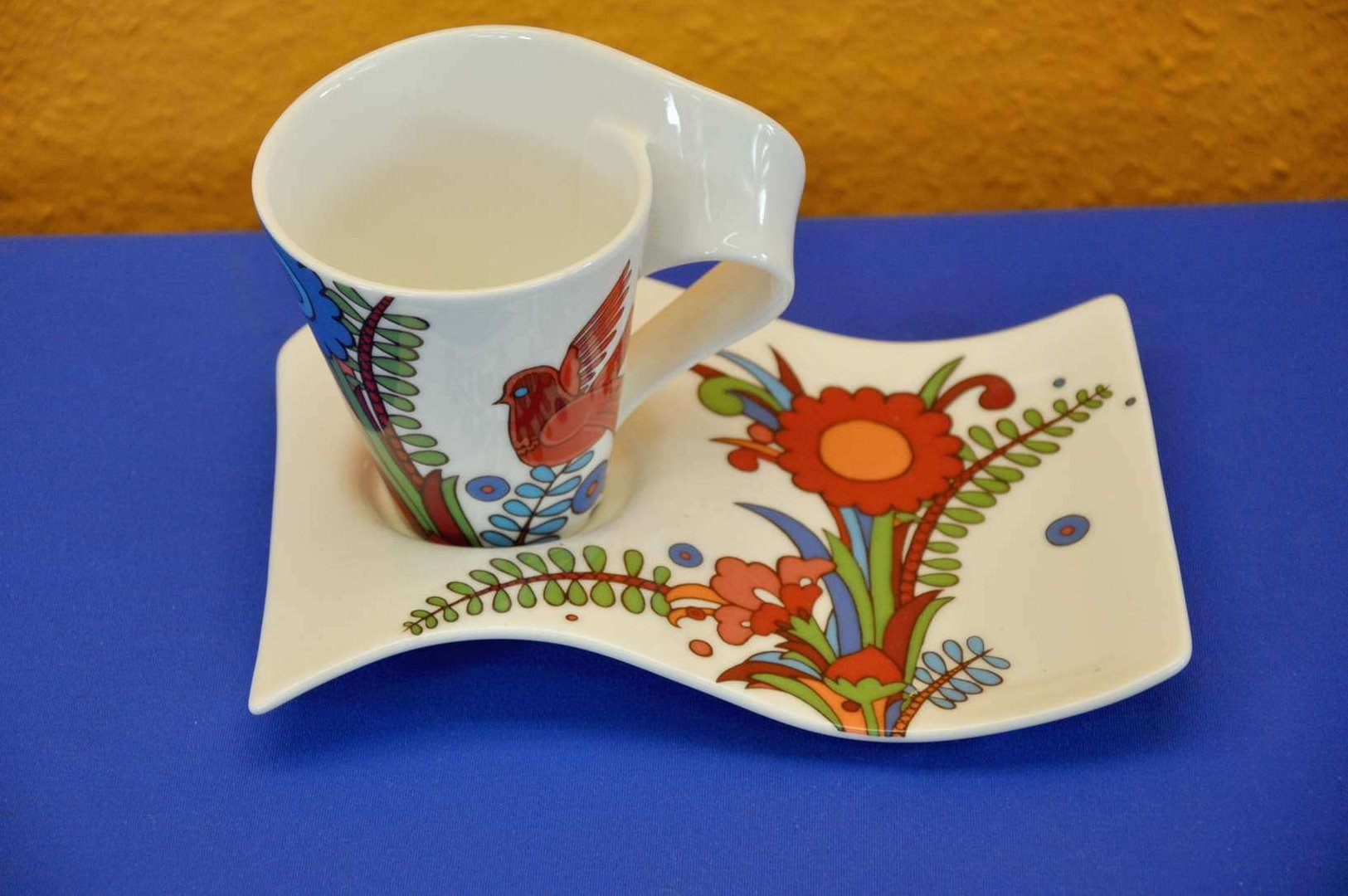 Villeroy boch newwave acapulco coffee cup with saucer kusera for Villeroy boch wave