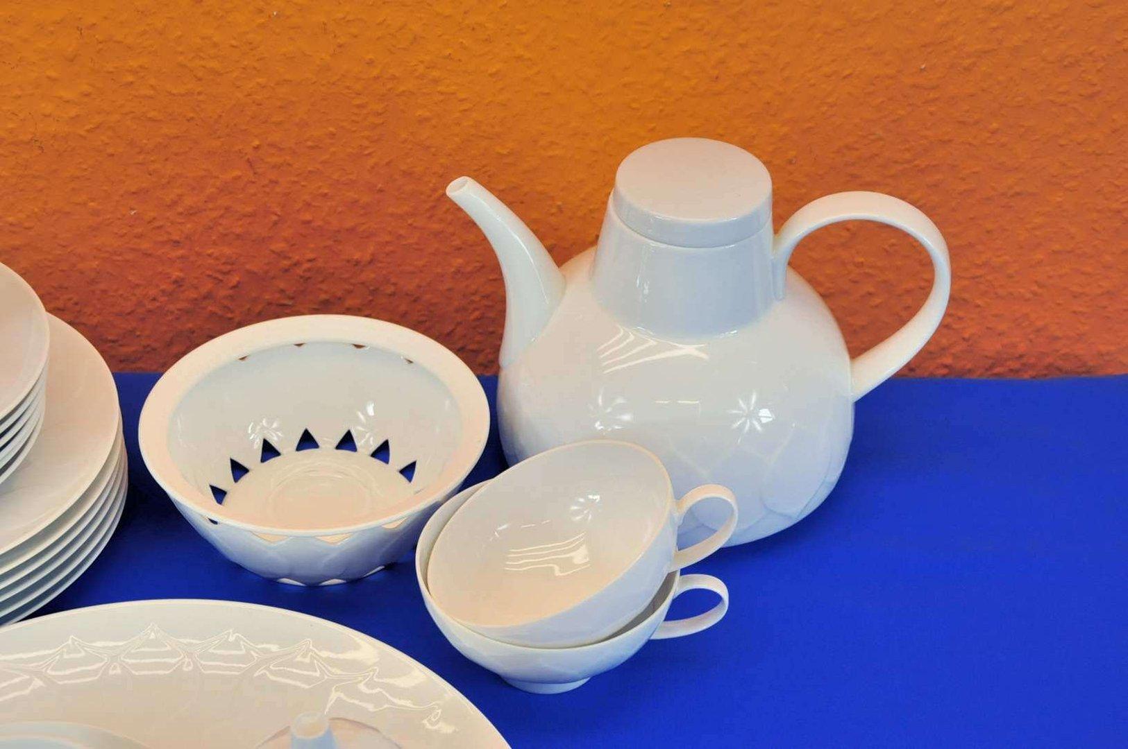 rosenthal tea service lotus white 6 persons wiinblad kusera. Black Bedroom Furniture Sets. Home Design Ideas