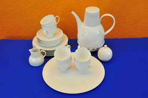 Rosenthal Coffee service Lotus white 6 persons Wiinblad