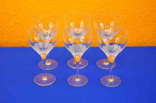 6 wine glasses Rosenthal Studio-Line Lotus