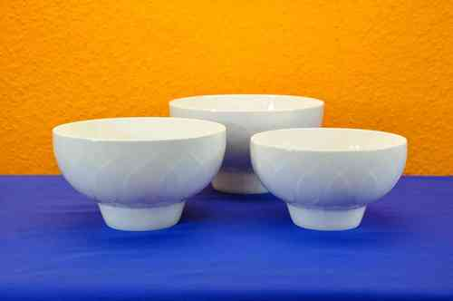 Rosenthal Lotus white 3 bowls different sizes