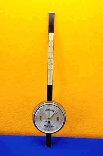 Weather station of Sundo stainless steel/black 70s style