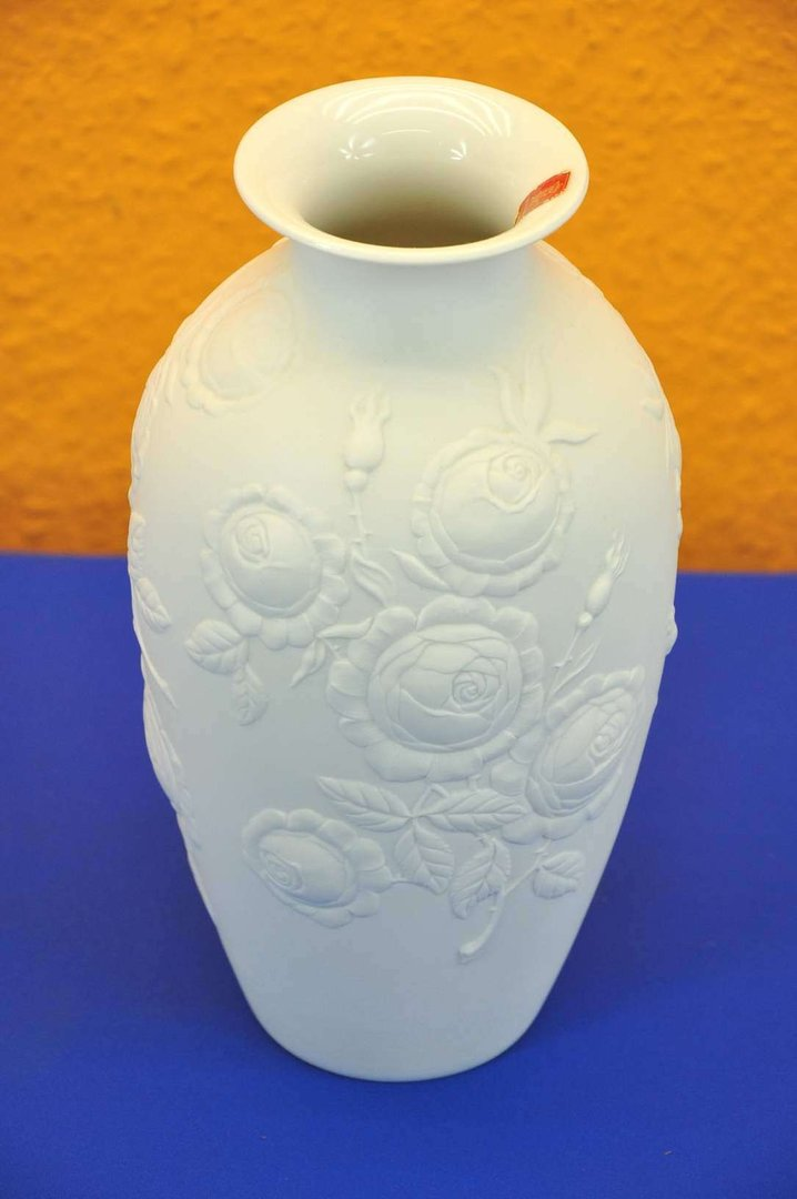 Kaiser Biskuitporzellan Vase 429 Rosendekor 24 Cm Shop Kusera