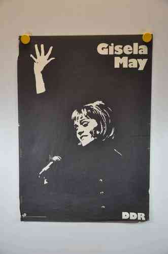 Gisela May DDR 60s music poster
