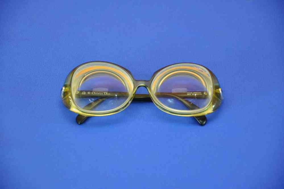 Christian Dior optyl vintage Rahmen Brille grün/schwarz - KuSeRa