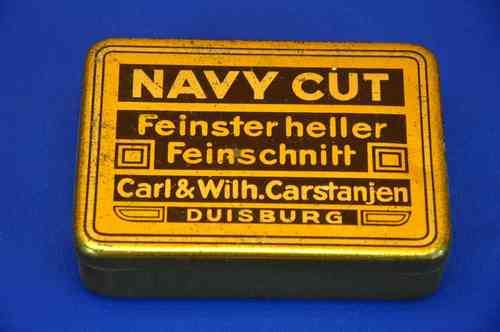 Old tin can Tobacco Tin Navy cut