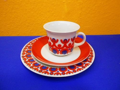 Vintage KAHLA porcelain coffee table ware GDR 1970s