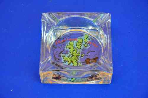 Ashtray glass Shetland Islands from 1980