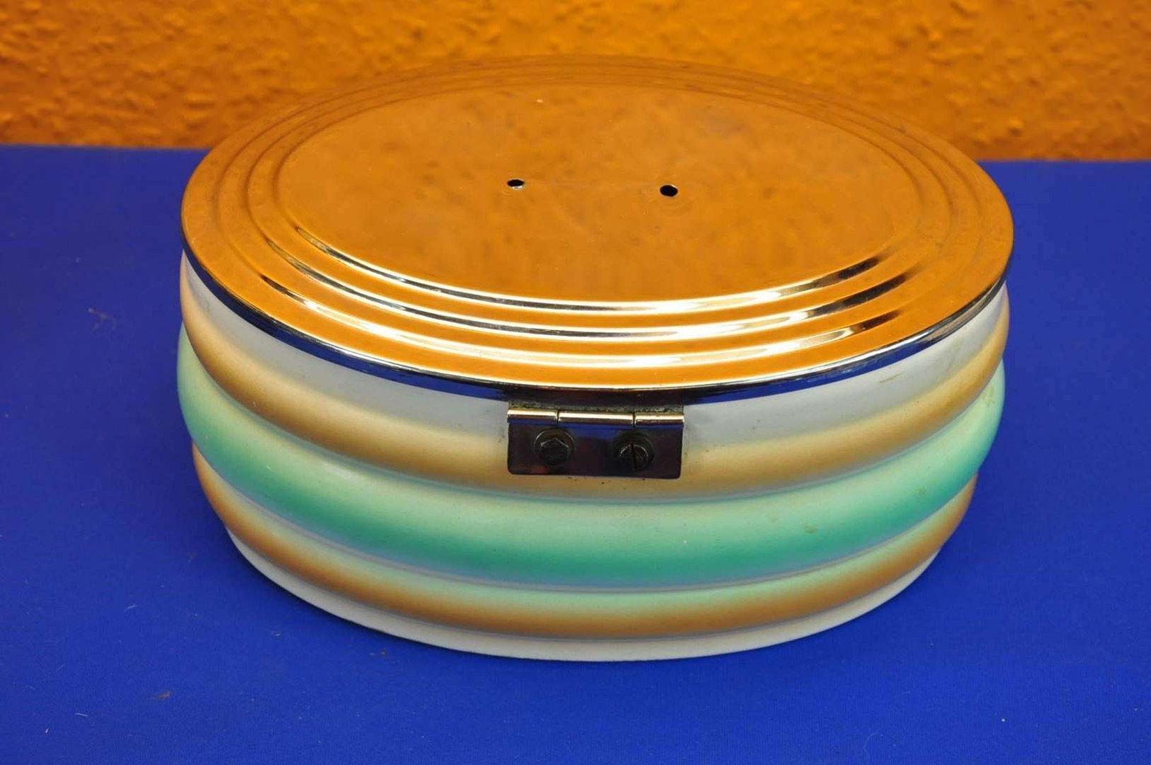 Bauhaus Buchholz lid box with spray decor bauhaus 30s pottery at shop kusera