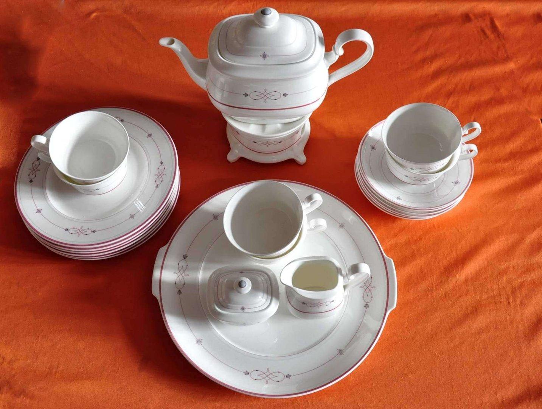 heinrich villeroy boch aragon teeservice mit st vchen