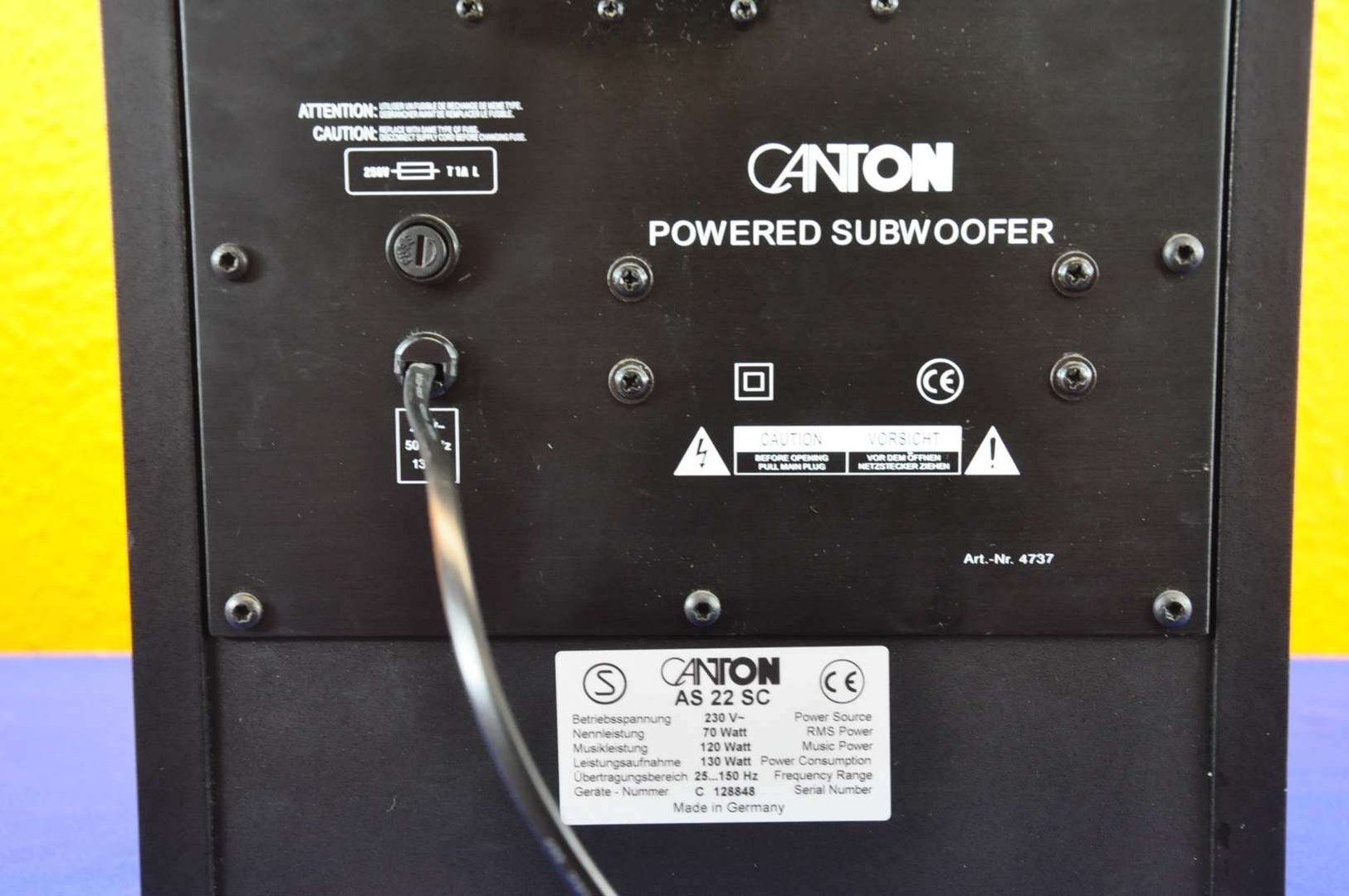 Canton AS 22 SC Powered Active Subwoofer 120 watts