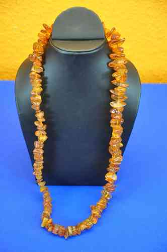 Untreated amber necklace from Germany 70 cm 73 g