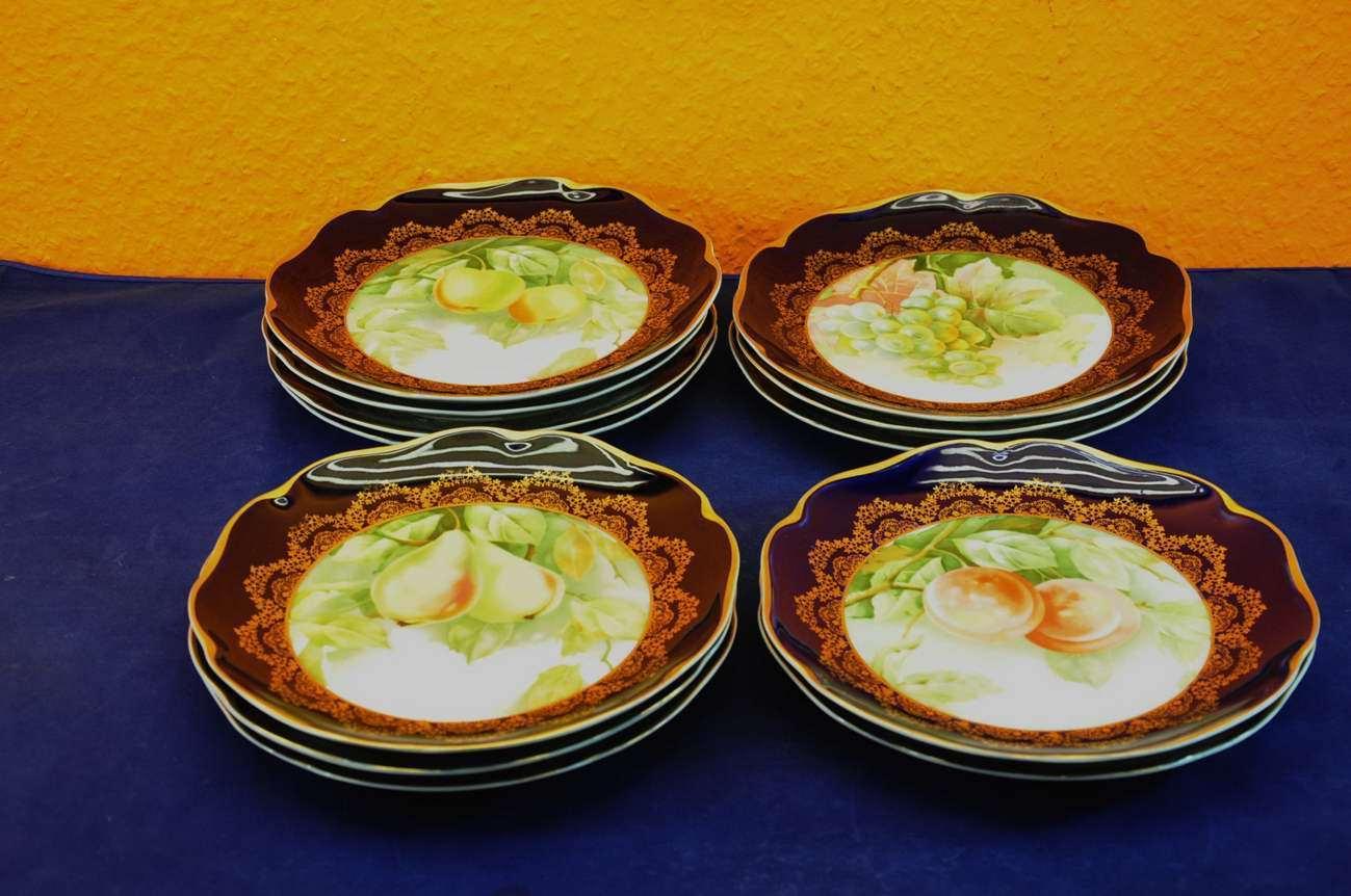 Rosenthal madeleine 12 fruit plates fruit decor at shop for Madeleine decoration