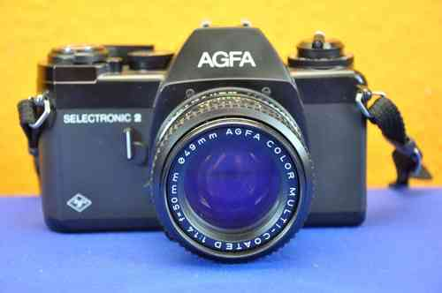 Agfa Selectronic 2 mit Agfa Color MC 1:1,4/50 + Tasche