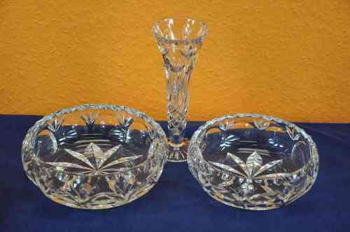 Nachtmann Bamberg crystal Set Bowls and vase