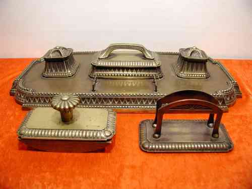Desk set bronze set classicism approx. 7 kg