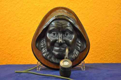 Head from sailor as wall lighter Auag 449 around 1900