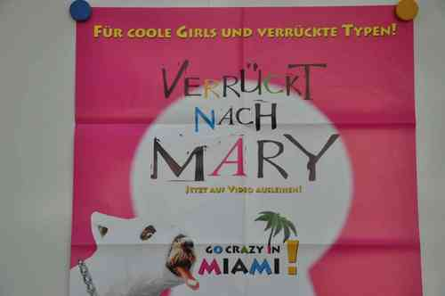 Movie Poster Verrückt nach Mary  Video shop 90s