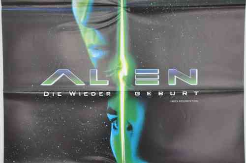 Movie Poster Alien Die Wiedergeburt Video shop 90s