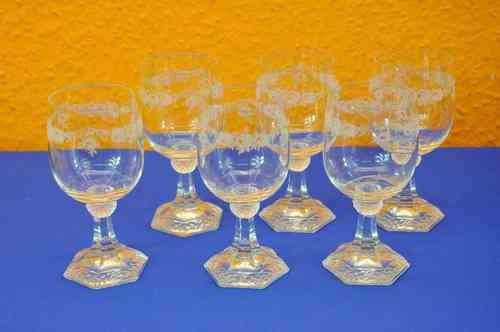 Rosenthal Classic Rose wine glass set Maria glass