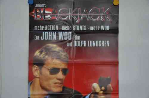 Movie Poster Blackjack John Woo Video shop 90s