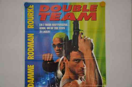 Movie Poster Double Team Video shop 90s