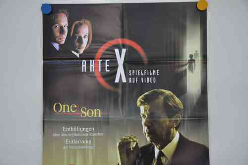Movie Poster Akte X One Son Video shop 90s