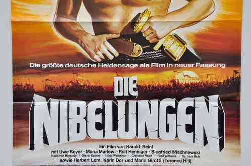 Mid-Century Movie poster of the Nibelungen A1