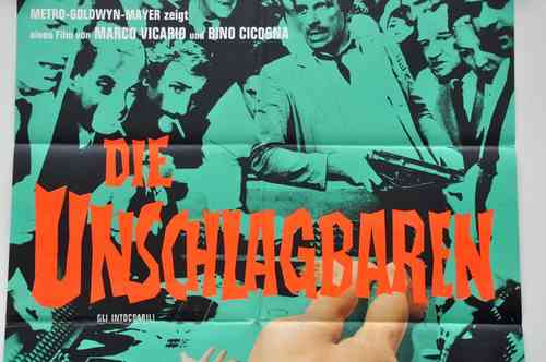 Mid-Century german Movie poster The unbeatable A1