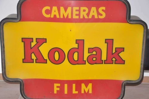 Kodak neon sign nose on both sides advertising 1950