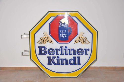 Berliner Kindl neon sign nose on both sides Advertising