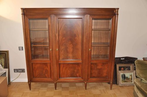Display cabinet walnut English style 180 x 170 x 41 cm