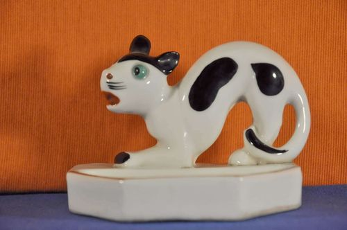 Porcelain bowl Cat with hump Bosse around 1930