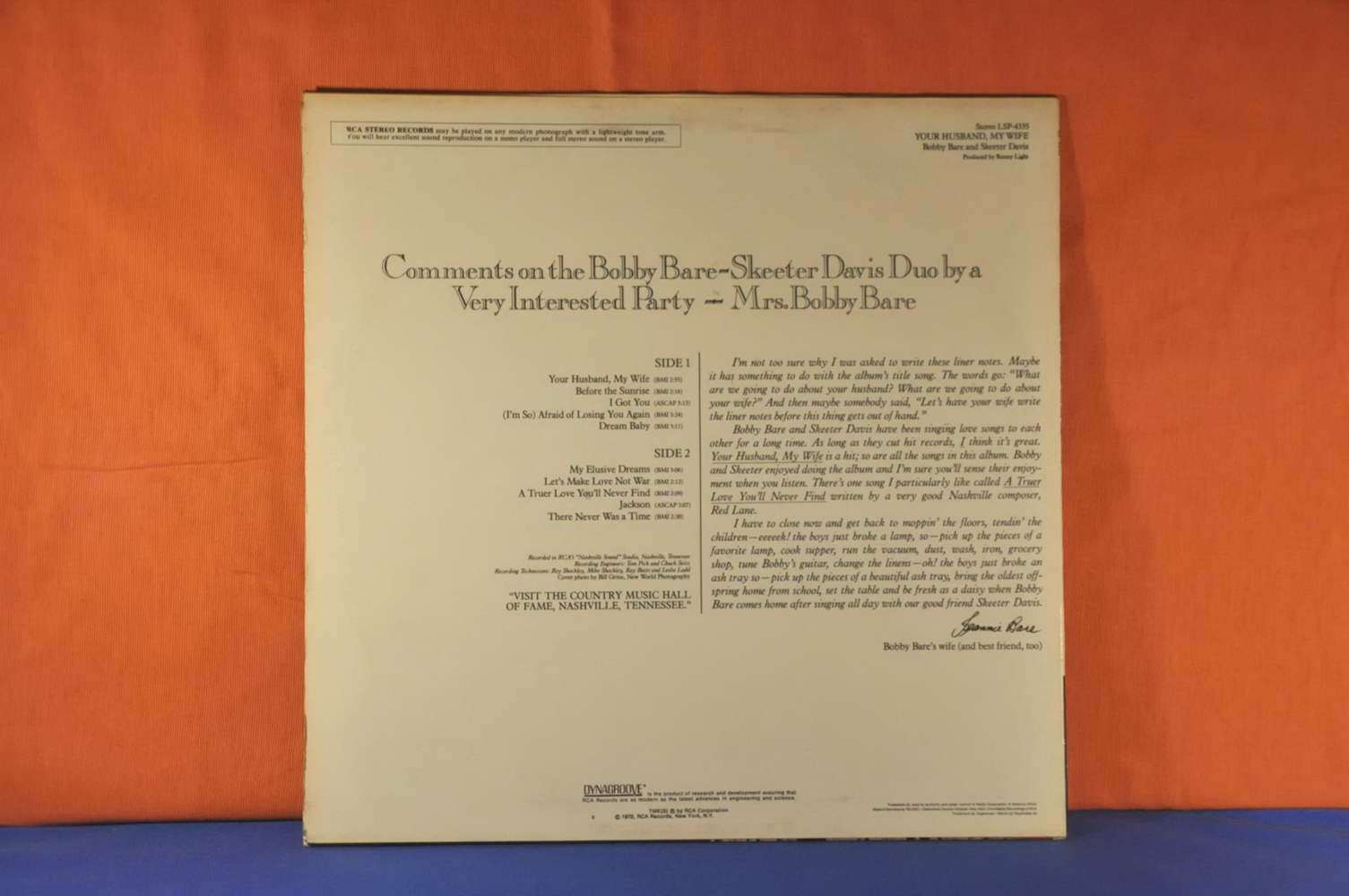 Bobby Bare And Skeeter Davis German Rca Lsp 4335 Buy At
