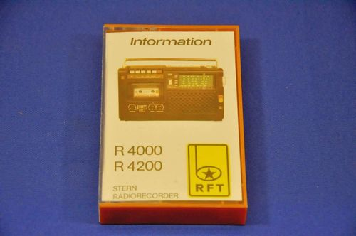 Information RFT Sternradio Radio Recorder manual on MC