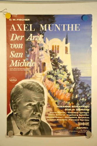 German Movie Poster O. W. Fischer Axel Munthe A1