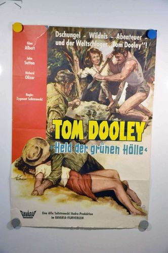 Vintage film poster Tom Dooley Hero of the Green hell