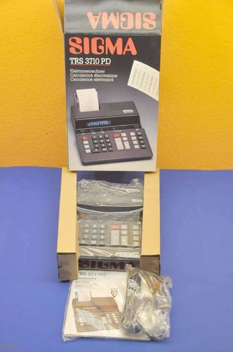 Vintage Sigma TRS 3710 PD Calculator NOS