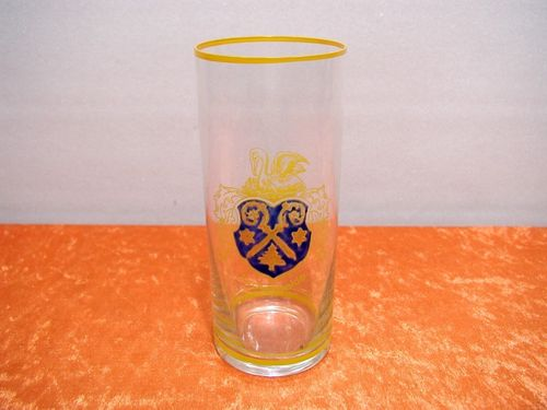 Glass painted with enamel coat of arms of Luckenwalde