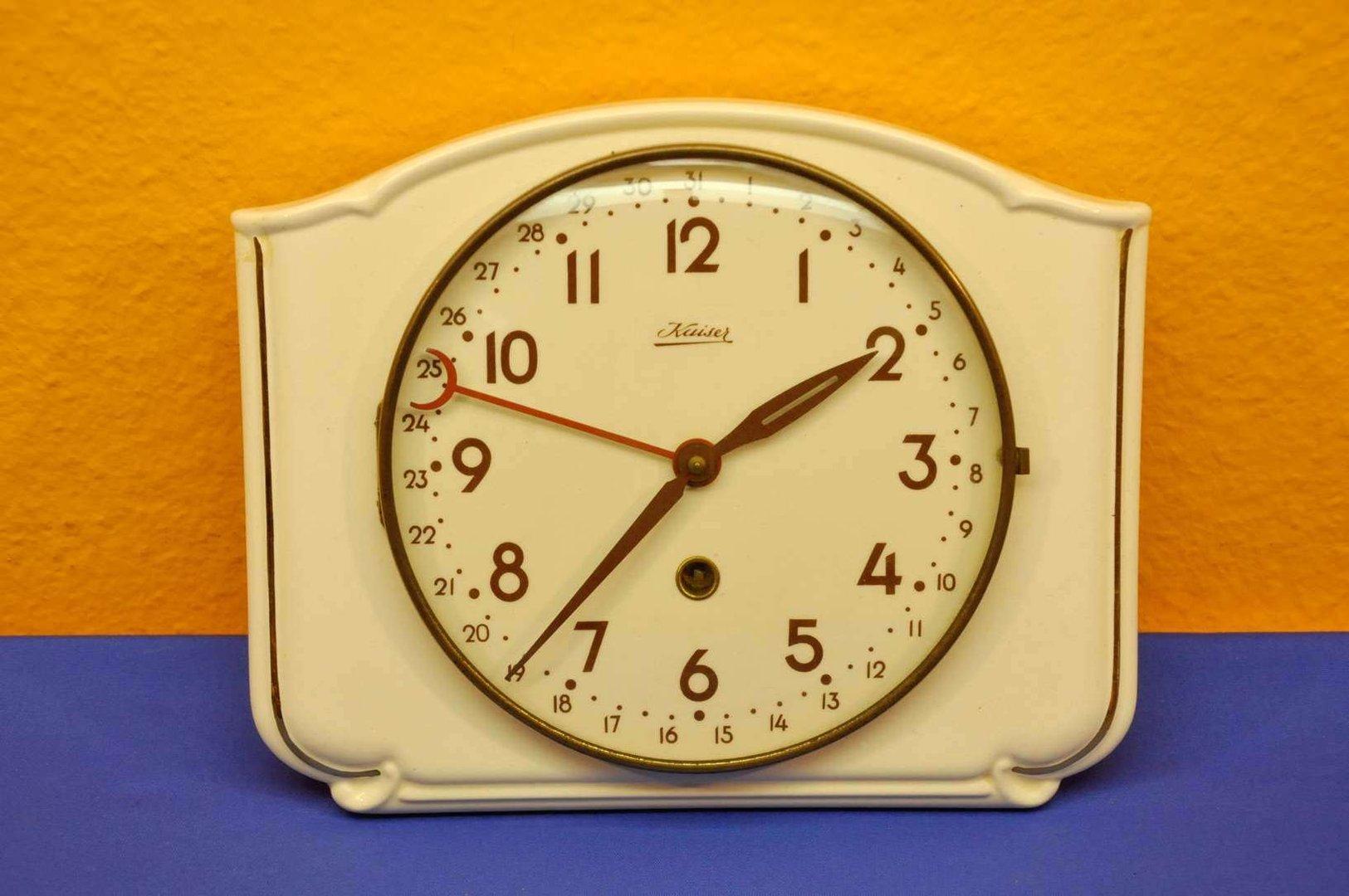 Wall clock manual winding ceramic Kaiser with date - KuSeRa buy
