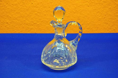 Vintage small crystal carafe with stopper